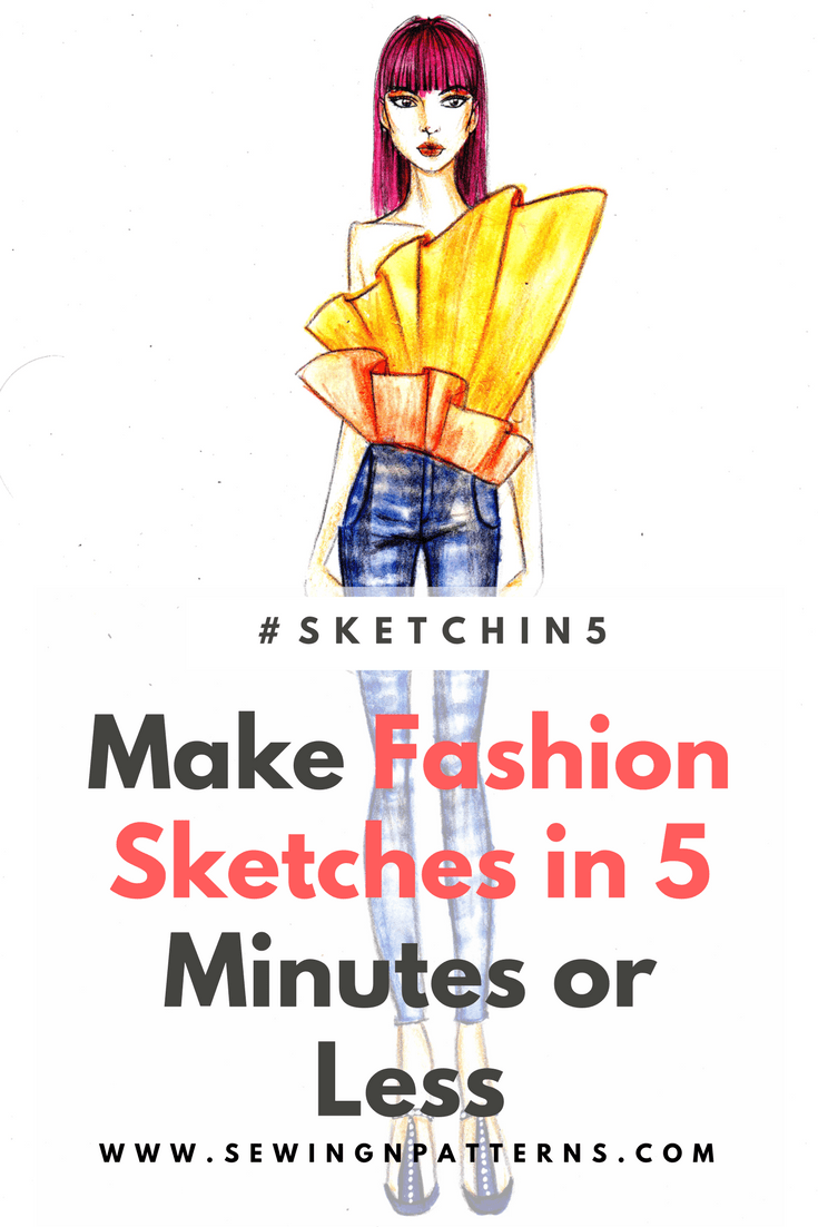 How To Draw Fashion Sketches In 5 Minutes Or Less Plus Free Templates Sketchin5