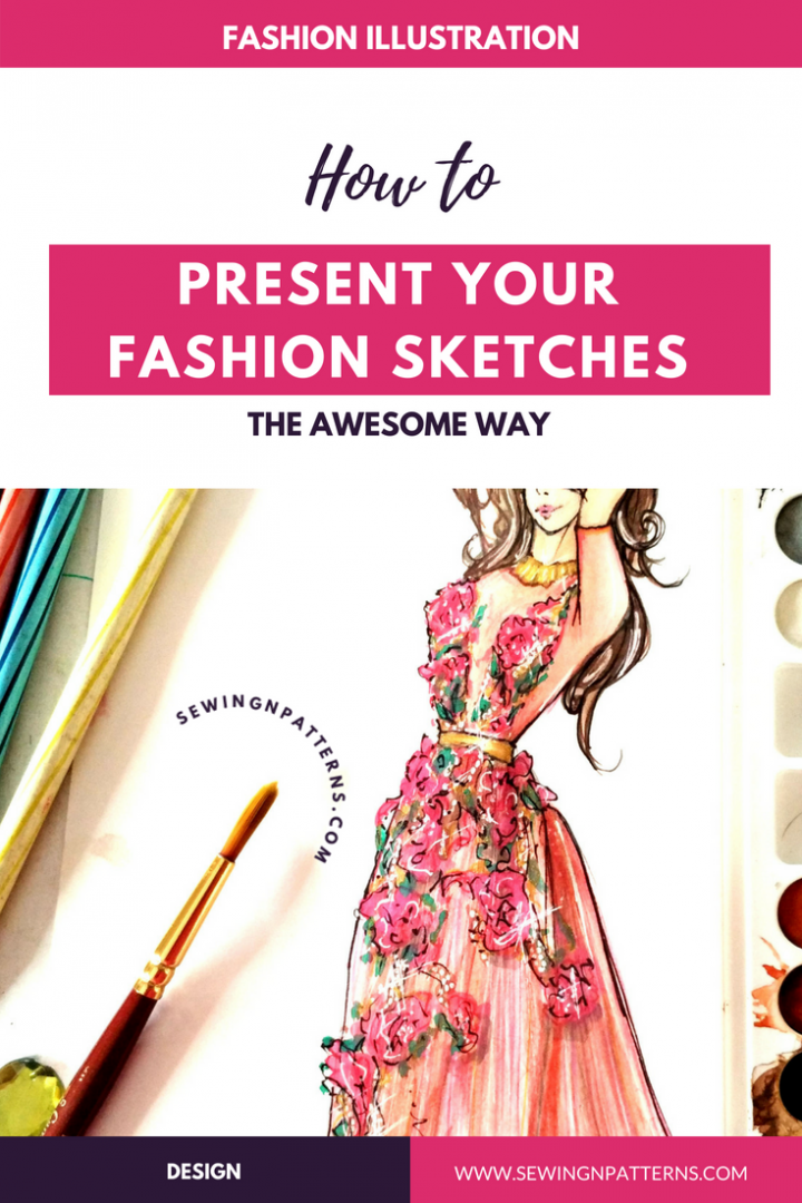 How To Present Fashion Sketches To Reach More People And Get Better Likes Sewingnpatterns