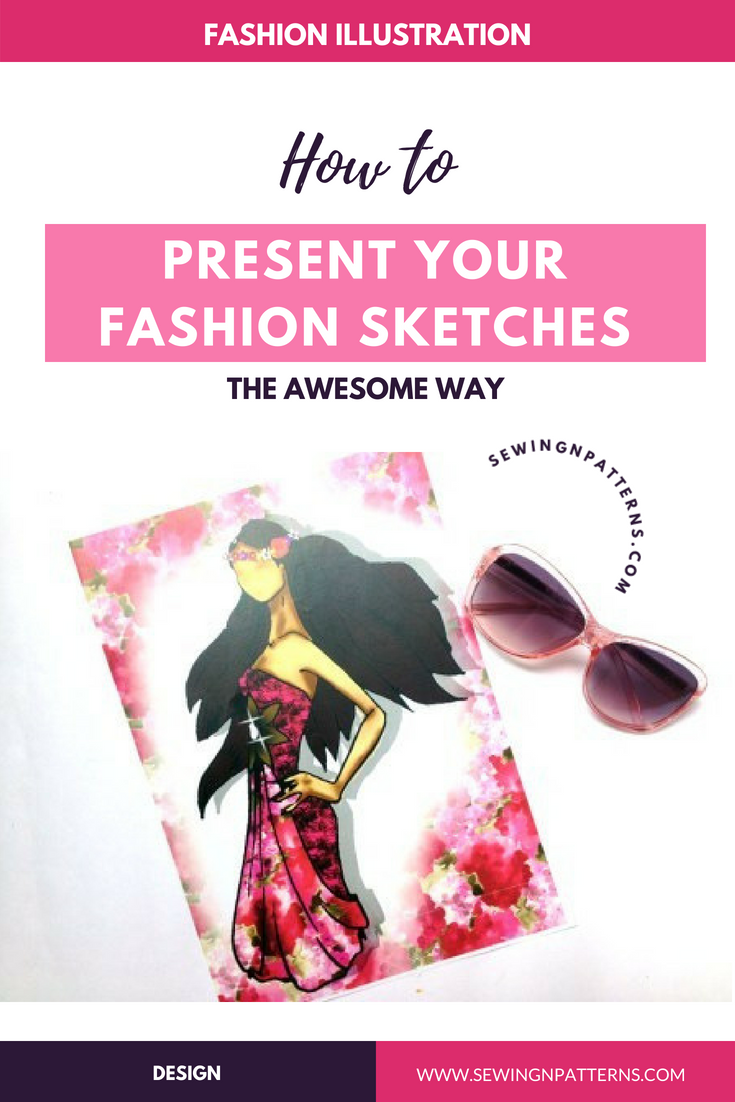 Presenting Fashion Sketches The Better Way With Flatlay Sewingnpatterns