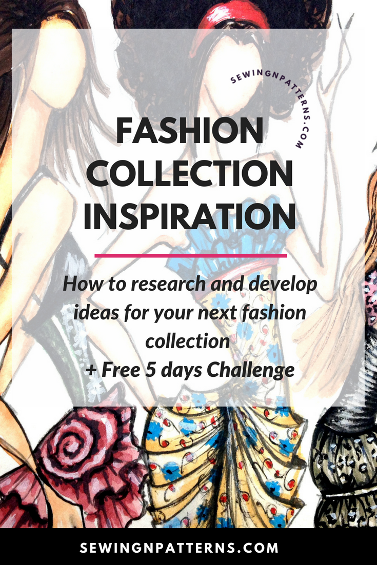 Wanna Design Fashion Collection? I got a free tutorial for you on how to do research for your fashion collection. I am gonna walk you through the step by step process of the 2 types of research, 29 inspiration ideas and a 5 days Free Fashion Inspiration Challenge worksheets for you to download. Click here for tutorial and worksheets. clothing line ideas, how to make a clothes line, how to start a clothing line, fashion collection, clothing design inspiration
