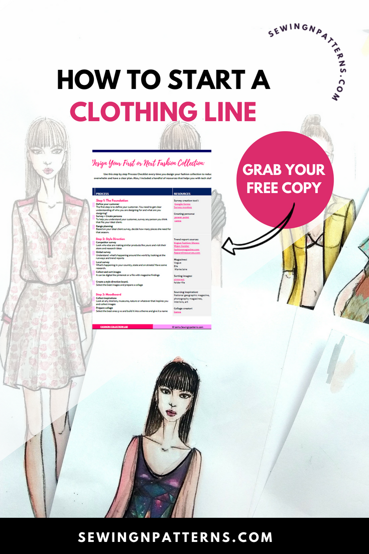 Clothing design process for your fashion collection for anyone who want to learn diy clothing line or how to make clothes line and looking for clothing line ideas, you are going to love this fashion design inspiration process. I got actionable steps for your fashion collection or fashion line. If you want to start a clothing business or clothing boutique or if you are planning for a fashion show, this tutorial gives you perfect fashion design ideas.