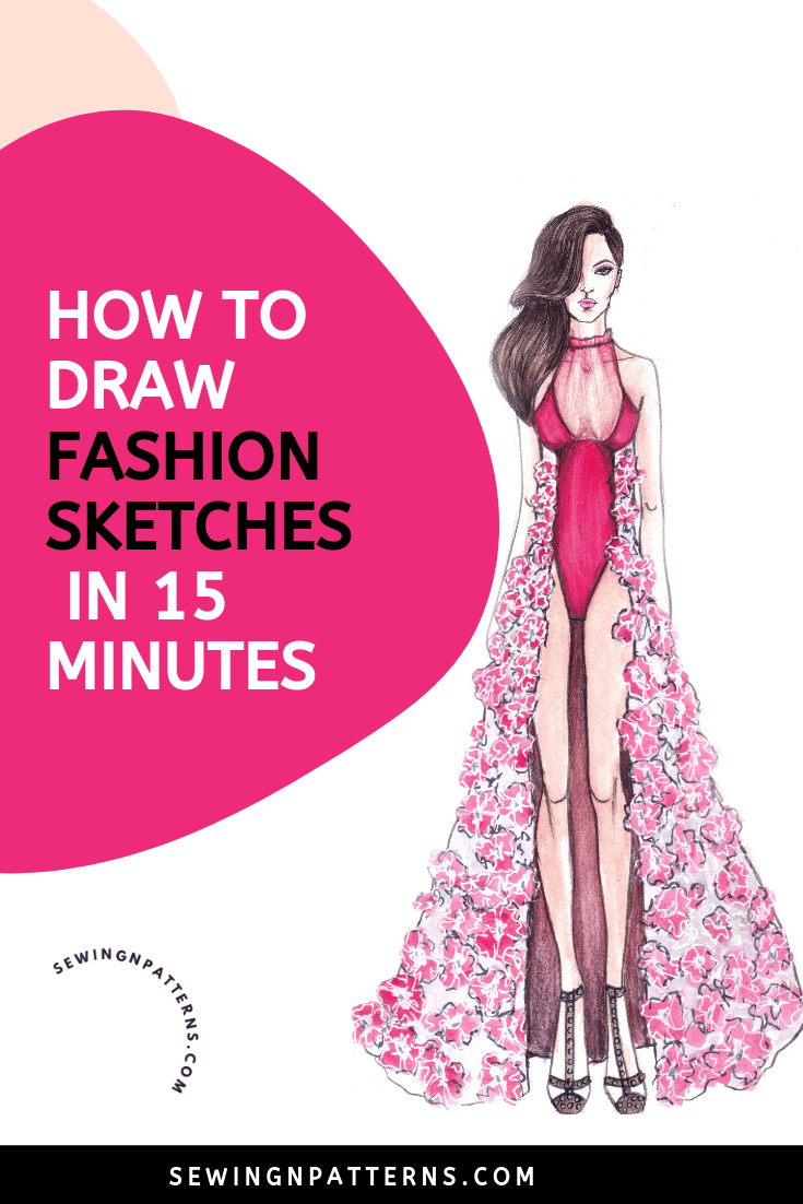How To Draw A Fashion Sketches Like A Fashion Designer In 15 Minutes