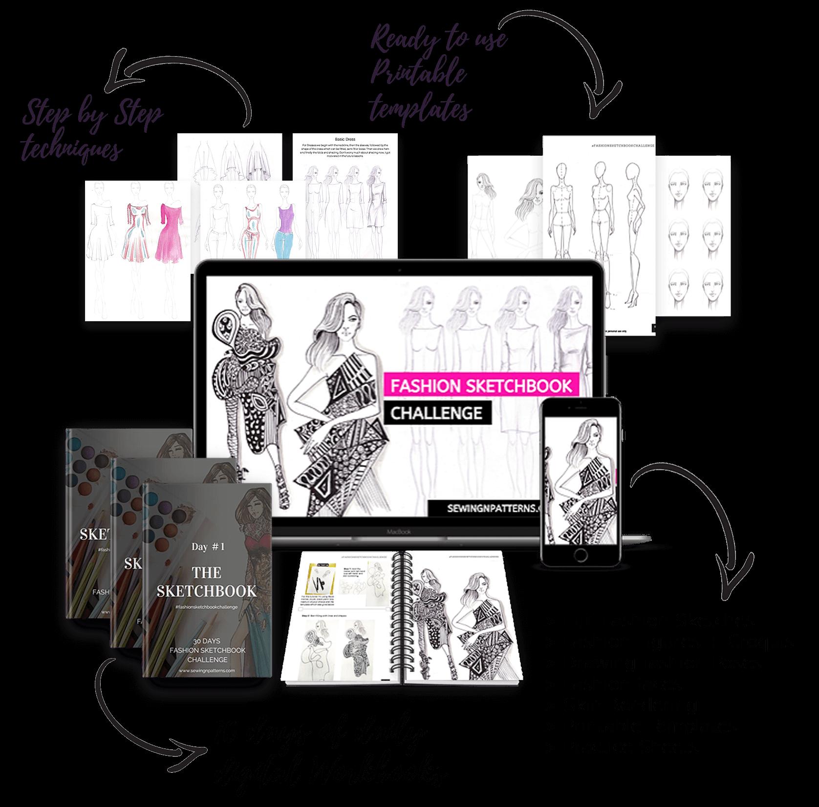 Fashion Sketchboook Challenge New Sewingnpatterns