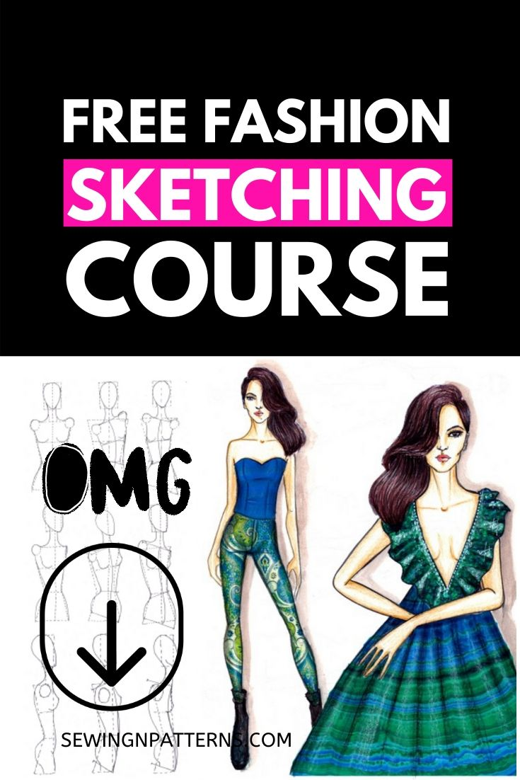 Fashion Designers! Are You Struggling with fashion design sketches? Join this free training to learn fashion illustrations https://sewingnpatterns.com/fashion-sketchbook-challenge/ #fashionillustration #fashiondesign #fashioncollection #fashionsketches #fashionbusiness #sewing #sewingprojects