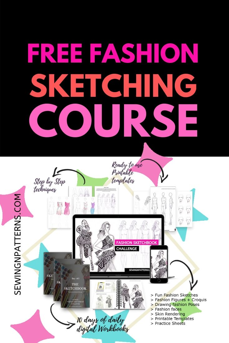 Join Free fashion sketching course at at https://sewingnpatterns.com/fashion-sketchbook-challenge/ fashion designer sketches | fashion design sketches | fashion sketching | fashion illustration | fashion drawing | fashion sketches | dressmaking | design clothes | sewing | sewing for beginners | sewing tips and tricks | simple sewing projects | sewing patterns | fashion design inspiration | fashion inspiration | fashion designers | fashion designing
