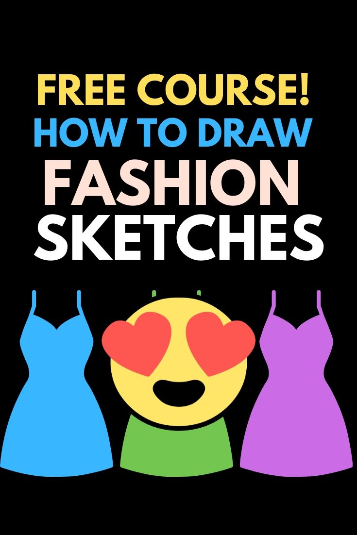 Wanna make fashion design sketches like a fashion designer?? Join this free online course that helps you with fashion illustration or fashion sketching and dressmaking. Even if you don't know how to draw fashion sketches. https://sewingnpatterns.com/fashion-sketchbook-challenge/