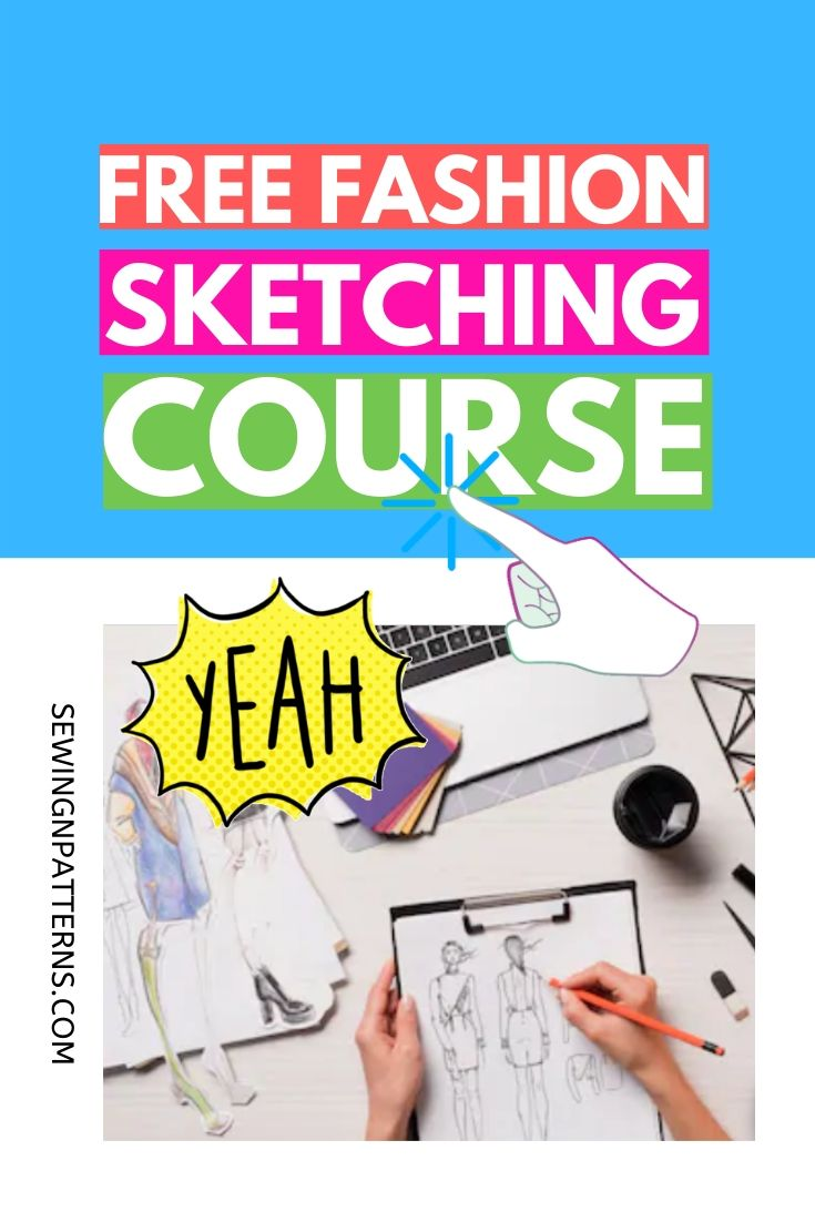 Wanna make fashion design sketches quickly? Wonder how fashion designer sketches are made? Join this free online course that helps you with fashion illustration or fashion sketching and dressmaking. Even if you don't know how to draw fashion sketches. #fashionillustration #fashiondesign #fashioncollection #fashiondaily #fashiondrawing #fashionfriday #fashionsketches